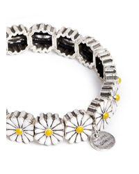 Philippe Audibert Metallic 'margueritte' Enamel Daisy Elastic Bracelet