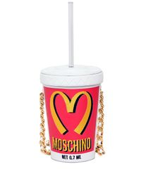 Moschino Red Milk Shake Leather Shoulder Bag