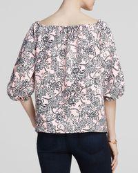 Cooper & Ella Pink Blouse - Madelyn Off The Shoulder Floral Print