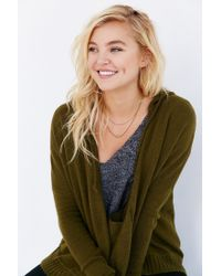 Silence + Noise - Green Take Your Time Cardigan - Lyst