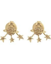 Vivienne Westwood | Metallic Pia Diamante Orb And Star Stud Earrings | Lyst