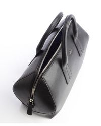 Furla - Black Onyx Leather Papermoon Medium Convertible Satchel - Lyst