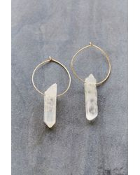 Urban Outfitters | Metallic Cosmic Dreams Crystal Hoop Earring | Lyst