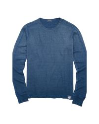 Polo Ralph Lauren | Blue Indigo Waffle Cotton Thermal for Men | Lyst