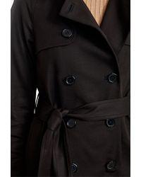 Forever 21 Black Longline Trench Coat