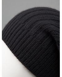 Rick Owens - Black Slouchy Beanie Hat for Men - Lyst