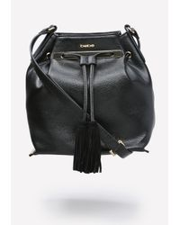 Bebe | Black Babette Bucket Bag | Lyst