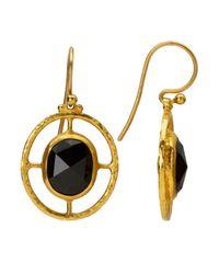 Gurhan | Metallic Compass 24k Gold And Black Sapphire Earrings | Lyst