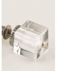 Ann Demeulemeester - Natural Cube Quartz Piercing Earrings - Lyst
