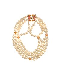 Helene Zubeldia | White Glass Pearl Timeless Necklace | Lyst
