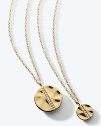 Ippolita | Metallic 18k Gold Senso™ Medium 15.5mm Disc Pendant Necklace With Diamonds | Lyst