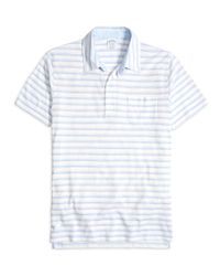 Brooks Brothers | White Slim Fit Thin Stripe Polo Shirt for Men | Lyst