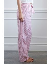 Forever 21 - Pink Striped Pj Pants - Lyst