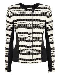 IRO - Black Brockel Leather-Trimmed Bouclã©-Tweed Jacket - Lyst