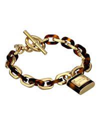 Michael Kors Metallic Tortoise Status Link Toggle Bracelet