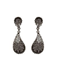 Mikey | Black Oblong Earrings | Lyst