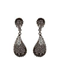 Mikey - Black Oblong Earrings - Lyst