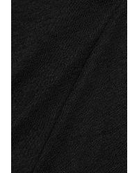 American Vintage Black Everest Linen-blend Top