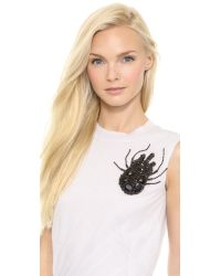 Vera Wang Collection - Large Beetle Brooch Jet Black - Lyst