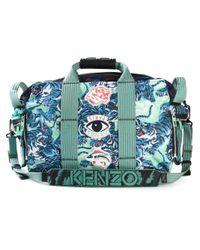 KENZO | Black Multi Logo Holdall for Men | Lyst