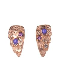 Carolina Bucci - Metallic Gitane Rose-gold Stud Earrings - Lyst