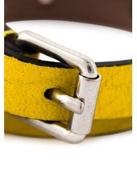 Alexander McQueen   Yellow Double Wrap Skull Bracelet   Lyst