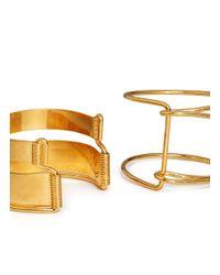 Alexander McQueen - Metallic Half Arm Four Cuff Set - Lyst