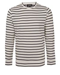 A.P.C. | Blue Navy Kelibia Stripe Cotton Sweatshirt for Men | Lyst