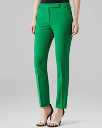 Reiss Green Trousers Joanna Fitted Tailored