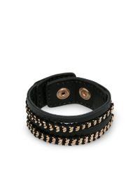 Mango - Black Mixed Bracelet - Lyst