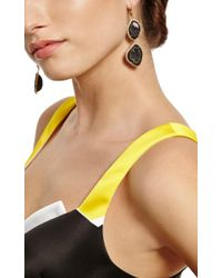 Kimberly Mcdonald - Black One Of A Kind Double Dark Geode and Diamond Lever Back Earrings - Lyst