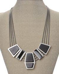 Rebecca Minkoff | Black Silver-Tone Accented Necklace | Lyst