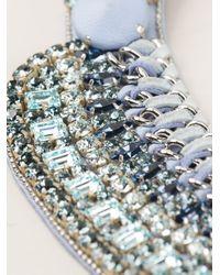 Barbara Bui | Blue Crystal Embellished Necklace | Lyst