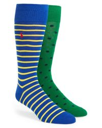 Polo Ralph Lauren | Green Cotton Blend Socks for Men | Lyst