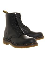 Dr. Martens - Black 8 Eyelet Lace Up Boots - Lyst