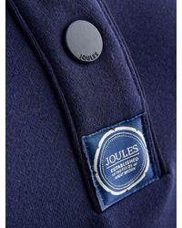 Joules Blue Funnel Neck Cotton Top