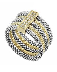 Lagos | Metallic Soiree Caviar™ Stacked Ring W/ Diamonds | Lyst