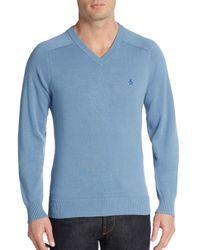 Original Penguin | Blue V-neck Sweater for Men | Lyst