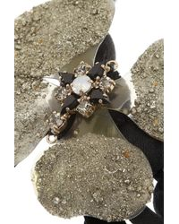Marni Black Va Swarovski Crystal Horn and Pyrite Necklace