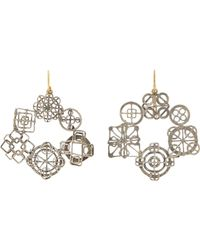 Judy Geib | Metallic Wheel Hoop Earrings | Lyst