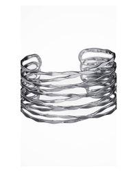 Express | Metallic Crisscross Metal Cuff | Lyst