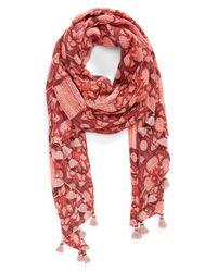 Hinge - Pink 'Caravan Mesh' Scarf - Coral - Lyst