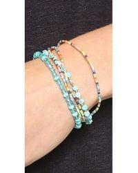 Chan Luu - Blue Rose Quartz Pull Tie Bracelet - Lyst