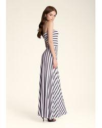Bebe Black Striped Maxi Dress