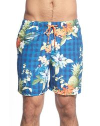 Tommy Bahama | Blue 'naples - Poipu Pineapple' Swim Trunks for Men | Lyst