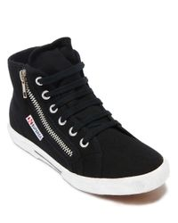 Superga | Black Cotu Cotton Hi-top Sneakers | Lyst