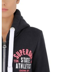 Superdry | Blue Zip-up Track & Field Sweatshirt for Men | Lyst