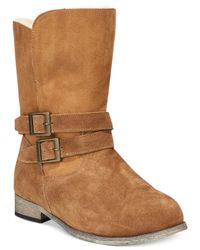BEARPAW | Brown Carrie Cold Weather Buckle Boots | Lyst