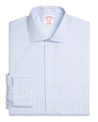 Brooks Brothers | Blue Non-iron Milano Fit Stripe Dress Shirt for Men | Lyst