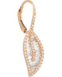 Anita Ko - Metallic Leaf 18-Karat Rose Gold Diamond Earrings - Lyst